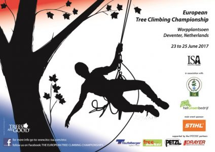 JUNE 2017: Meet us at European Tree Climbing Championship in Deventer