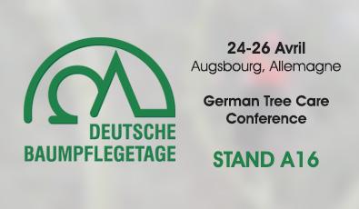 AVRIL 2018: Rencontrez-nous au Deutsche Baumpflegetage à Augsbourg