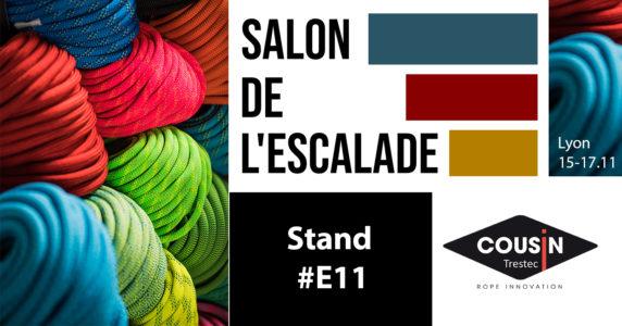 Novembre 2019 : Rendez-vous au Salon de l'Escalade à Lyon, Stand n°E11